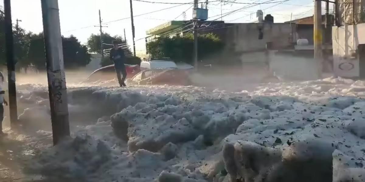Por si hacían falta más pruebas del cambio climático: monstruosa tormenta de granizo cubrió de hielo a ciudad de México en pleno verano