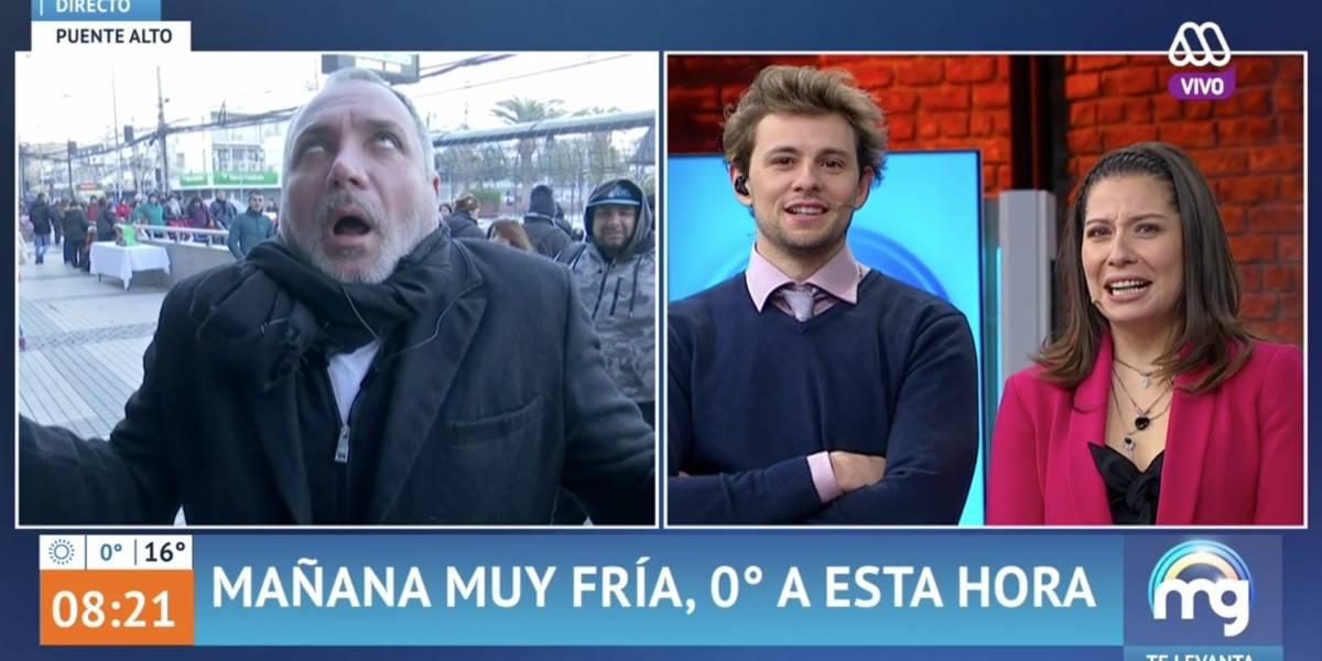 """Lucho Jara regresó a la TV y al """"Mucho Gusto"""" repartiendo besos y compartiendo con los transeúntes de Puente Alto"""