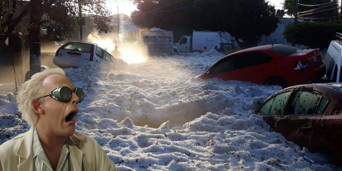 Brutal y viral: cae granizada en Guadalajara y sepulta a medio barrio