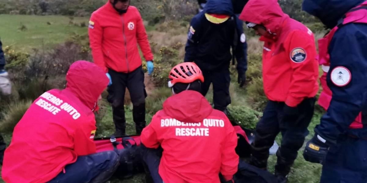 Hallan dos personas fallecidas en la ruta del Cóndor, en el Antisana