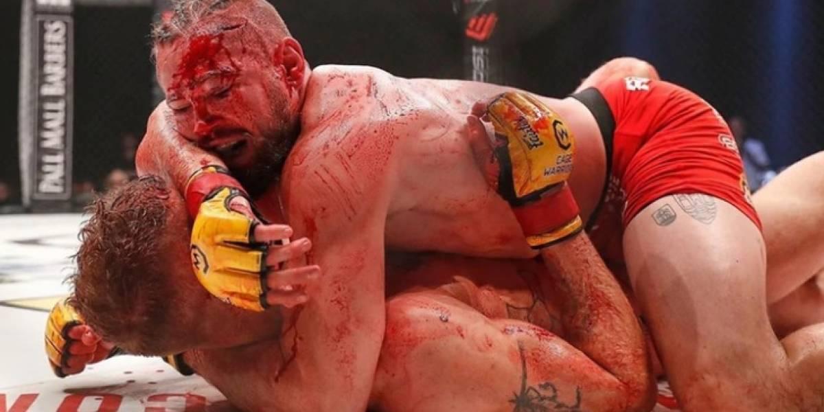 O 'banho de sangue' que obrigou a suspensão de uma luta de MMA
