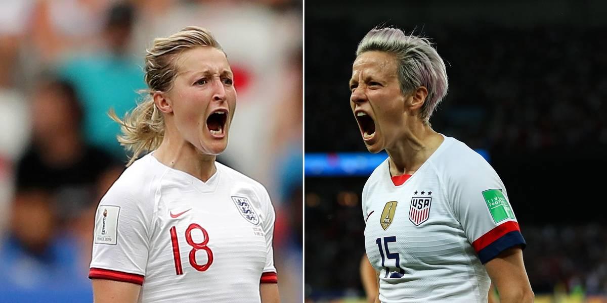 Copa feminina: Estados Unidos chegam a mais uma semifinal, agora frente a ascensão da Inglaterra