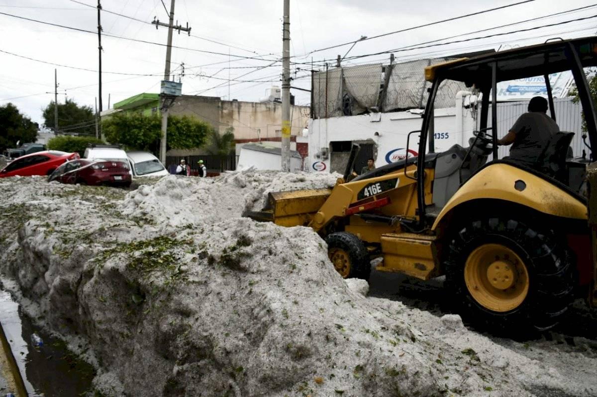 Granizo en Guadalajara: buscan fondos federales para damnificados