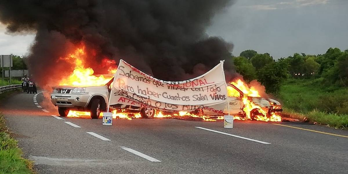 Queman vehículos en Tabasco por despliegue de Guardia Nacional