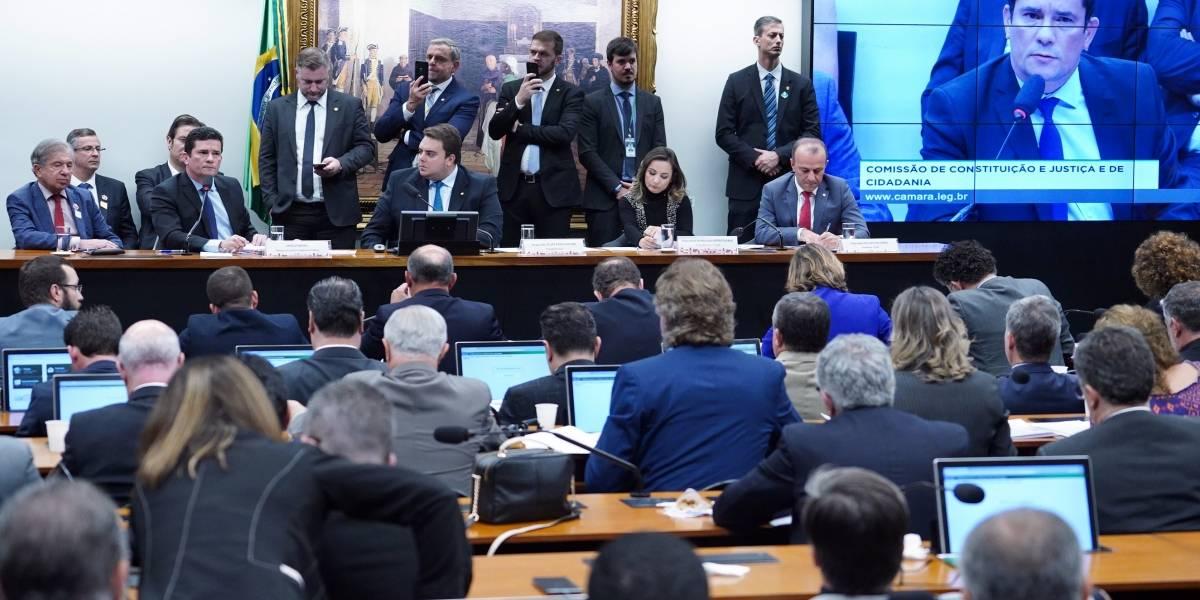 Na Câmara, Sergio Moro voltou a dizer que não reconhece autenticidade das mensagens