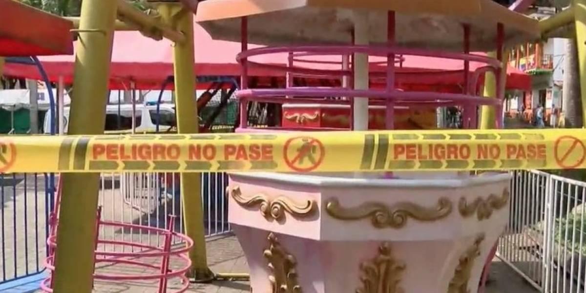 Grave accidente en parque de diversiones dejó tres personas heridas