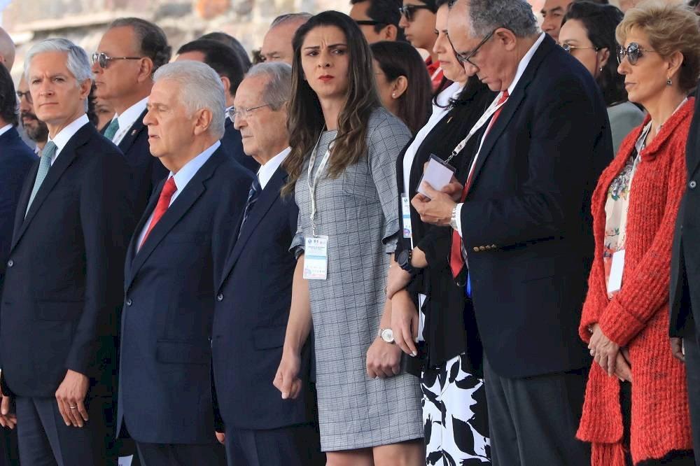 Ana Guevara disfrutó la ceremonia del encendido de la llama panamericana. / Ángel Cruz-Publimetro