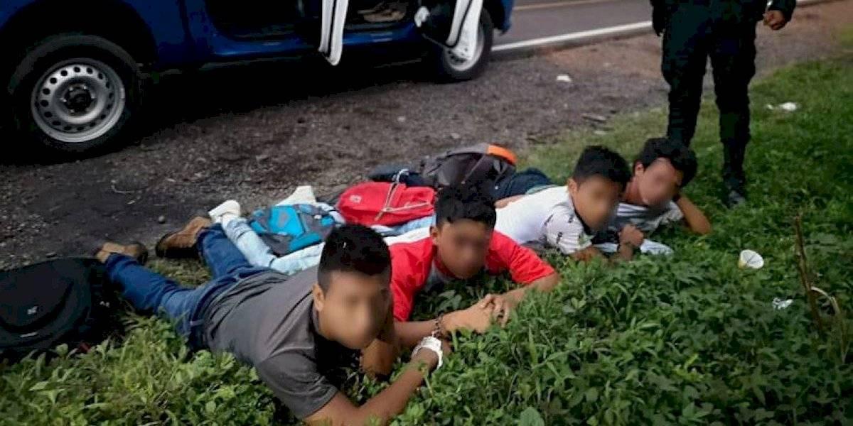 Capturan a cuatro presuntos asalta buses en ruta a Santa Elena Barillas