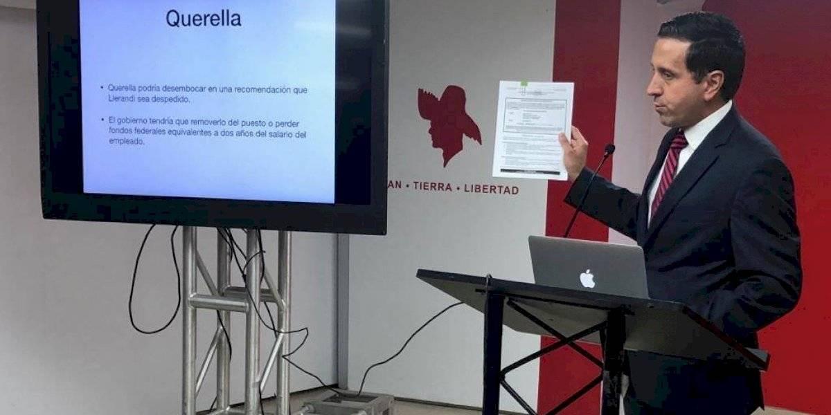 Refieren a Llerandi ante autoridades por múltiples violaciones a leyes federales