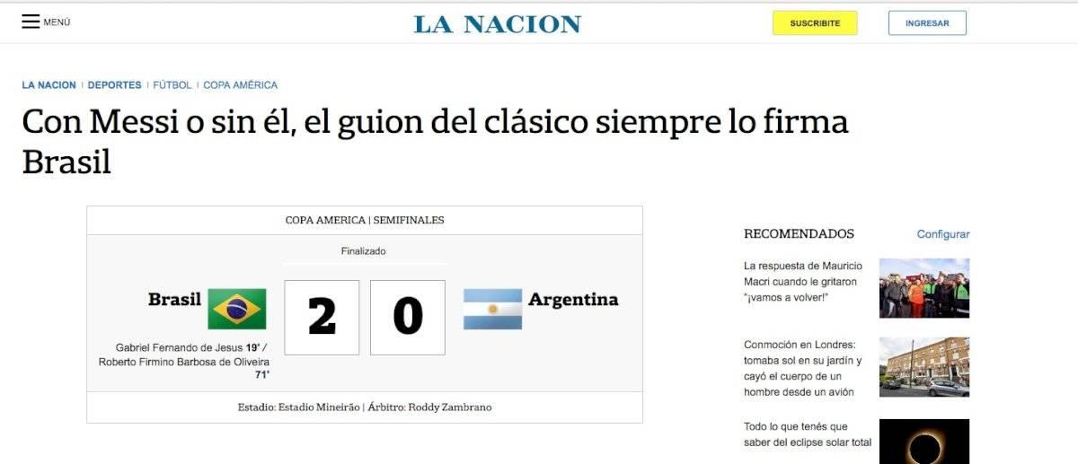 Diario La Nación reproducción