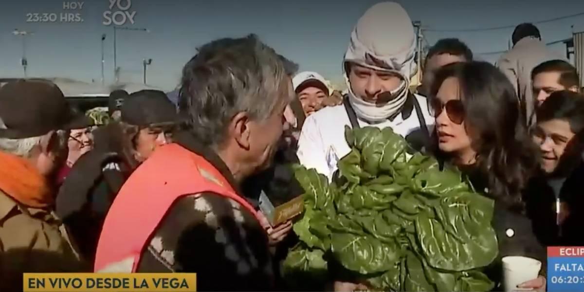 """""""Es una ordinariez lo que me hicieron"""": la reacción de Pamela Díaz luego que le lanzaran verduras en La Vega"""