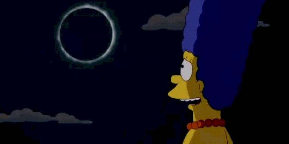 La familia amarilla lo hizo otra vez: el día que Los Simpson enseñaron qué pasa si se mira un eclipse sin la protección correcta