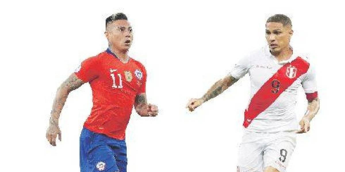 Chile y Perú juegan hoy en un duelo aparte de goleadores