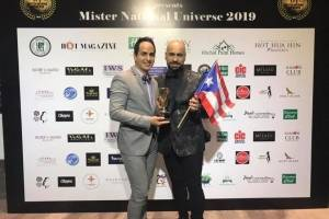 "Luis Vélez, conocido en la industria de certámenes como ""Luvel"" y director de Mr. & Miss Beauty International Puerto Rico, recibió el reconocimiento como Best National Director"