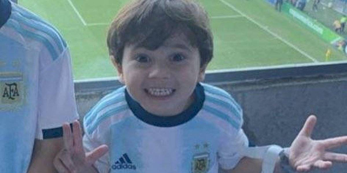 VIDEO. Mateo Messi llega desatado al superclásico y se le va la mano