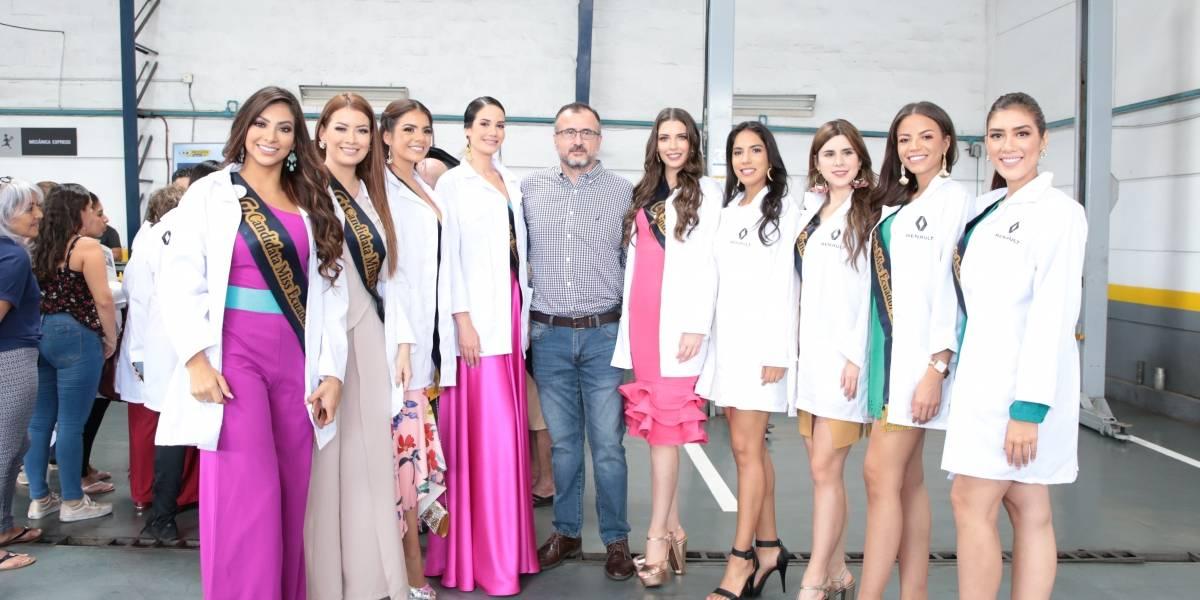 Candidatas a Miss Ecuador 2019 visitaron Renault