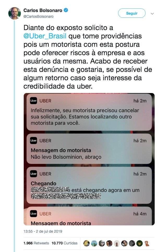 print twitter carlos bolsonaro