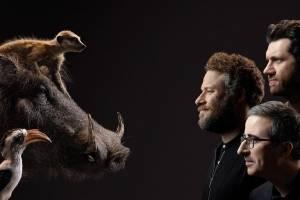 O Rei Leão Timão, Pumba e Zazu John Oliver Seth Rogen Billy Eichner