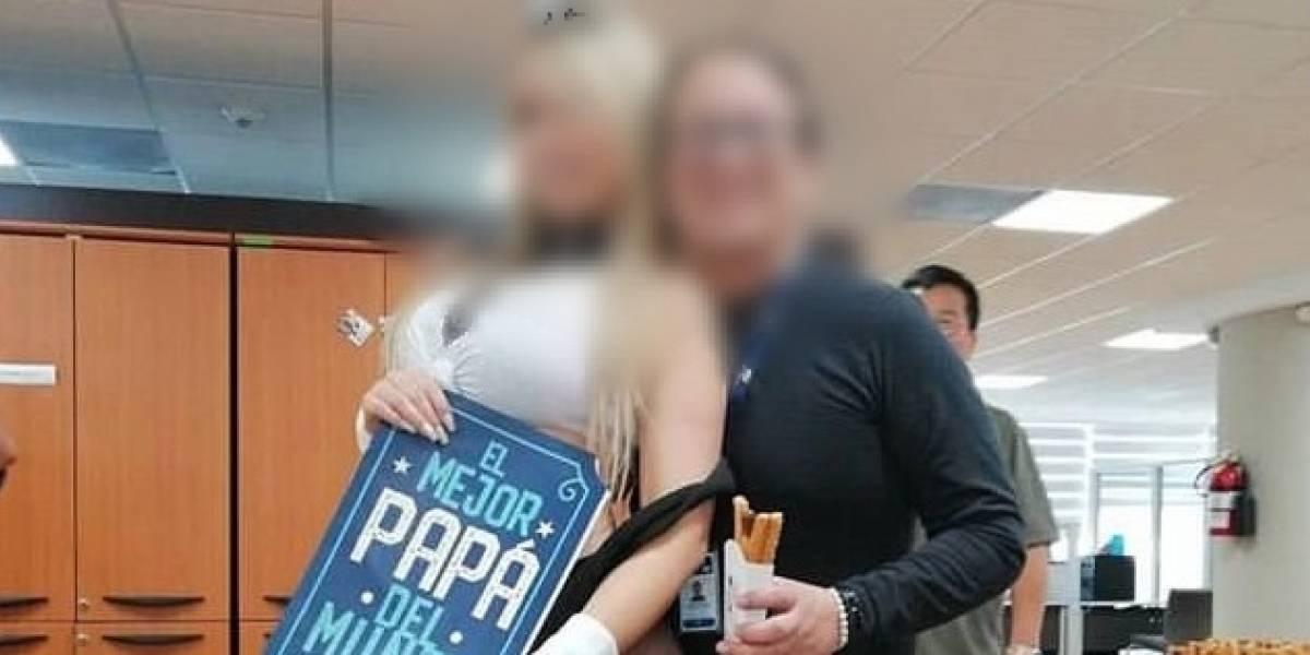 Otro festejo por el Día del Padre en institución pública: Circulan fotos de funcionarios del SRI con garotas