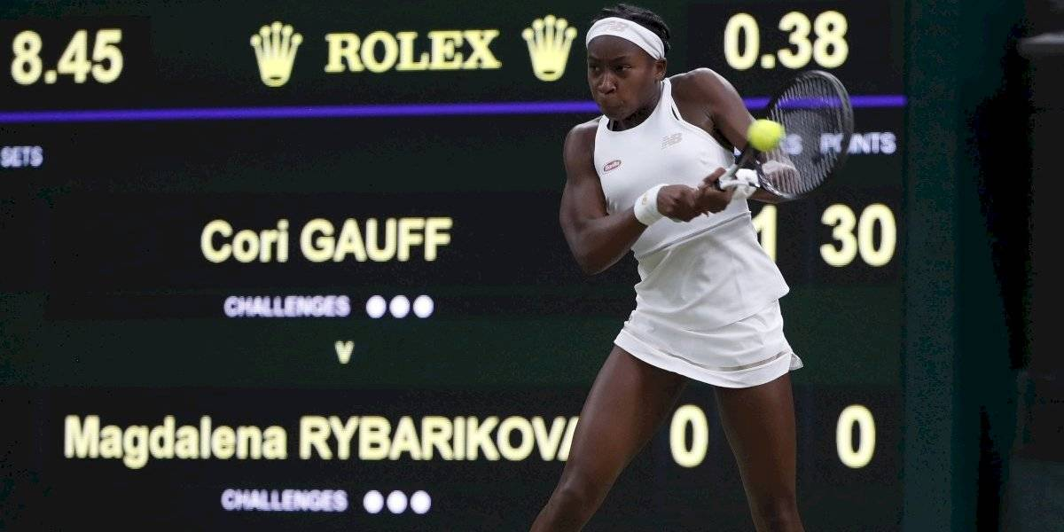 La niña Coco Gauff sigue asombrando al mundo en Wimbledon