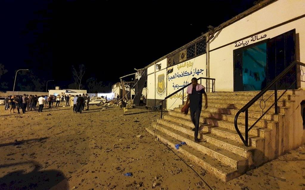 Bombardeo en Libia