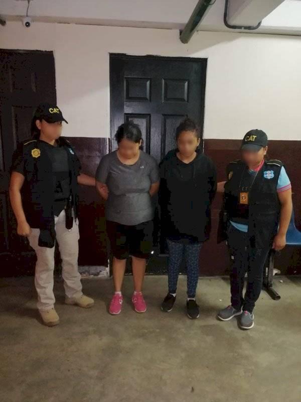 mujeres extorsionistas capturadas en zona 19