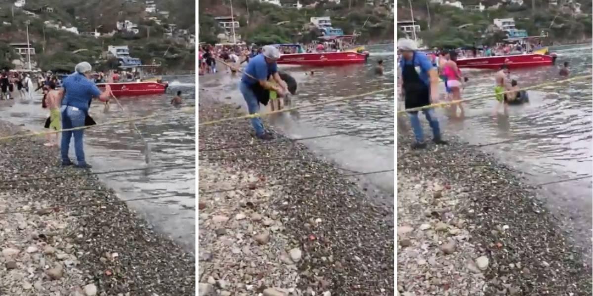 Indignación por mujer que lavó trapero sucio en playas donde se bañaban más turistas