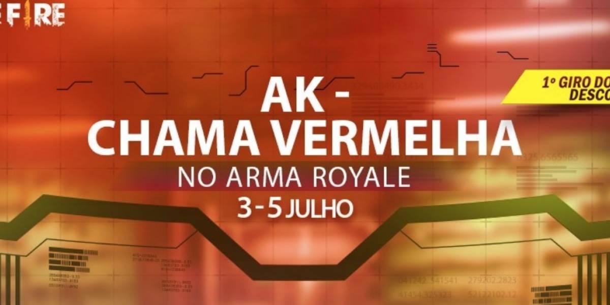 AK Chama Vermellha: Garena Free Fire ganha super novidade no arma royale