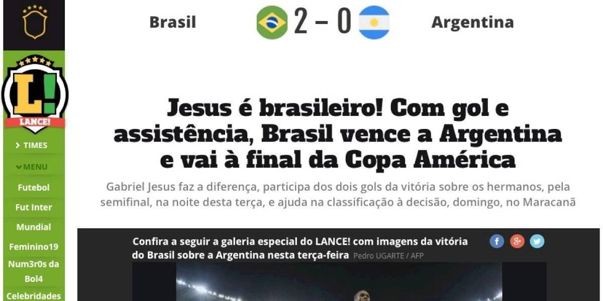 """""""Jesus es de la Canarinha"""": la prensa brasileña enfatizó que su estrella destronó a Lionel Messi en América"""
