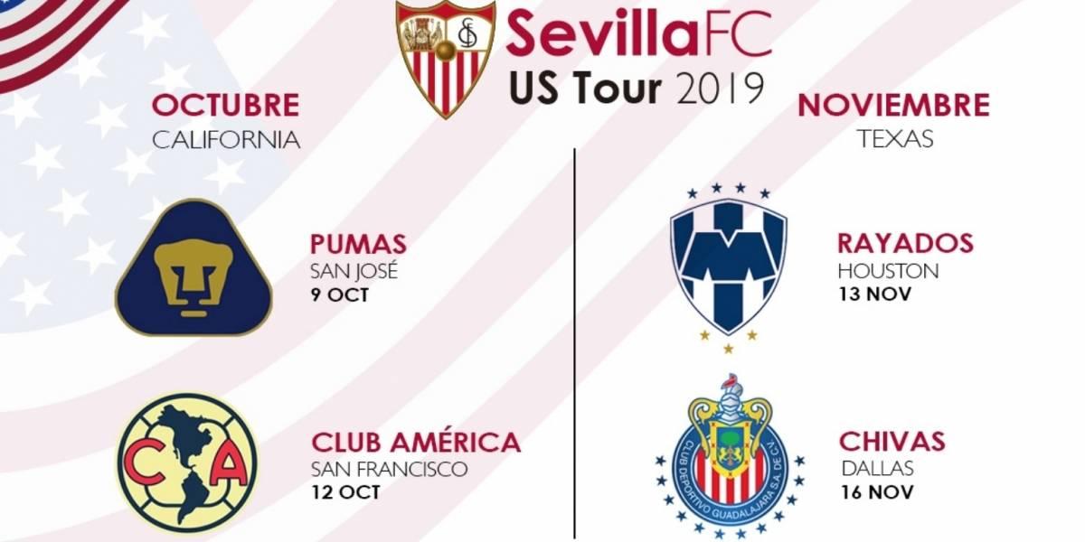 Sevilla enfrentará a cuatro clubes de la Liga MX