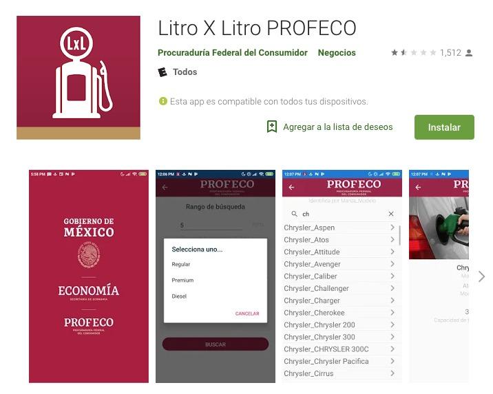 Profeco app