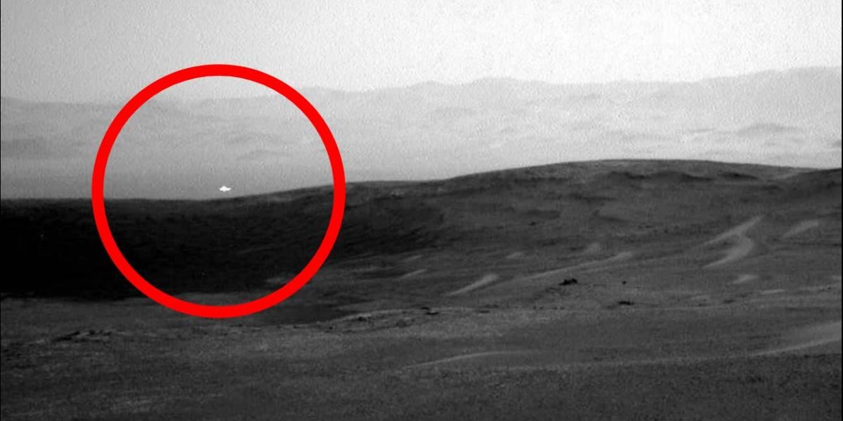 Extraña luz en Marte aparece en una fotografía de la NASA
