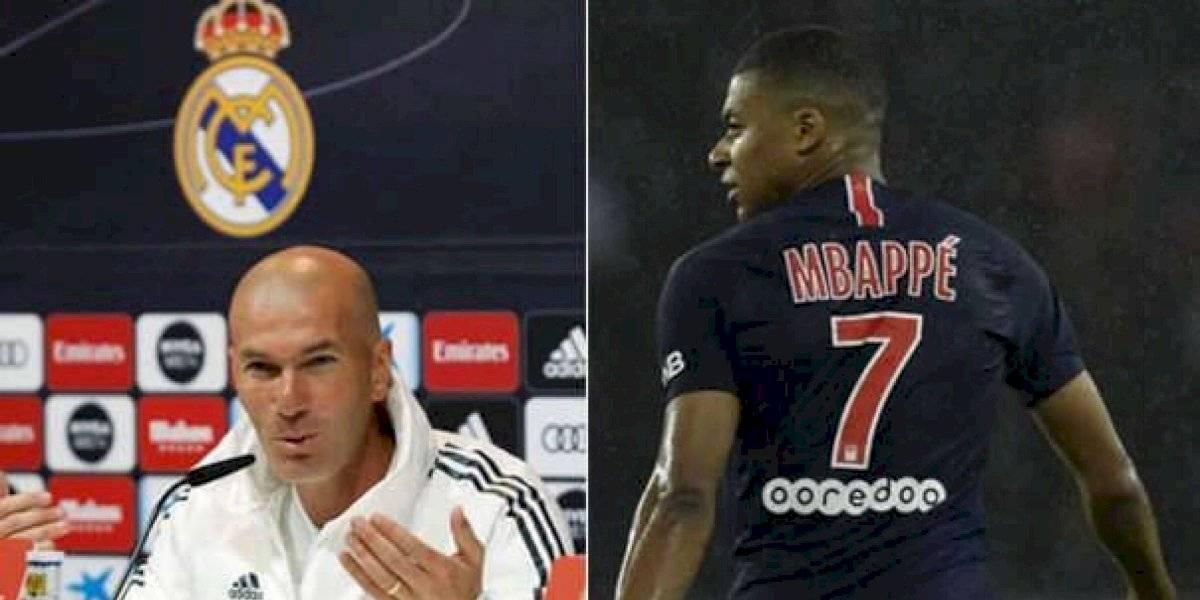"""Zidane habló con Mbappé para que """"dé el paso de una vez"""""""