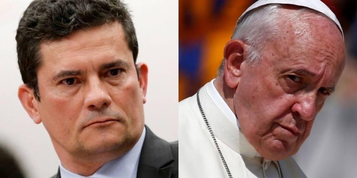 Internet acusa Papa Francisco de mandar indireta para Sergio Moro: 'juízes devem ser isentos'