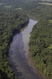 Río Kentucky tras el incendio