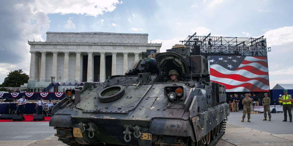 Con tanques, Estados Unidos celebra la gran fiesta patriótica de Trump