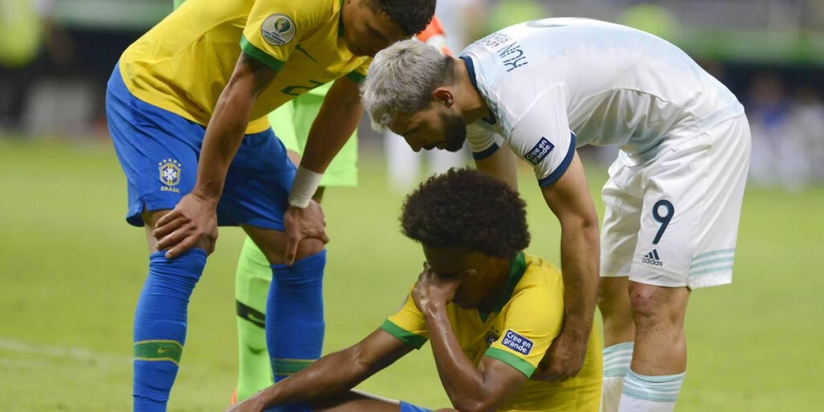Dura baja en Brasil: Willian no podrá jugar la final de Copa América ante Perú