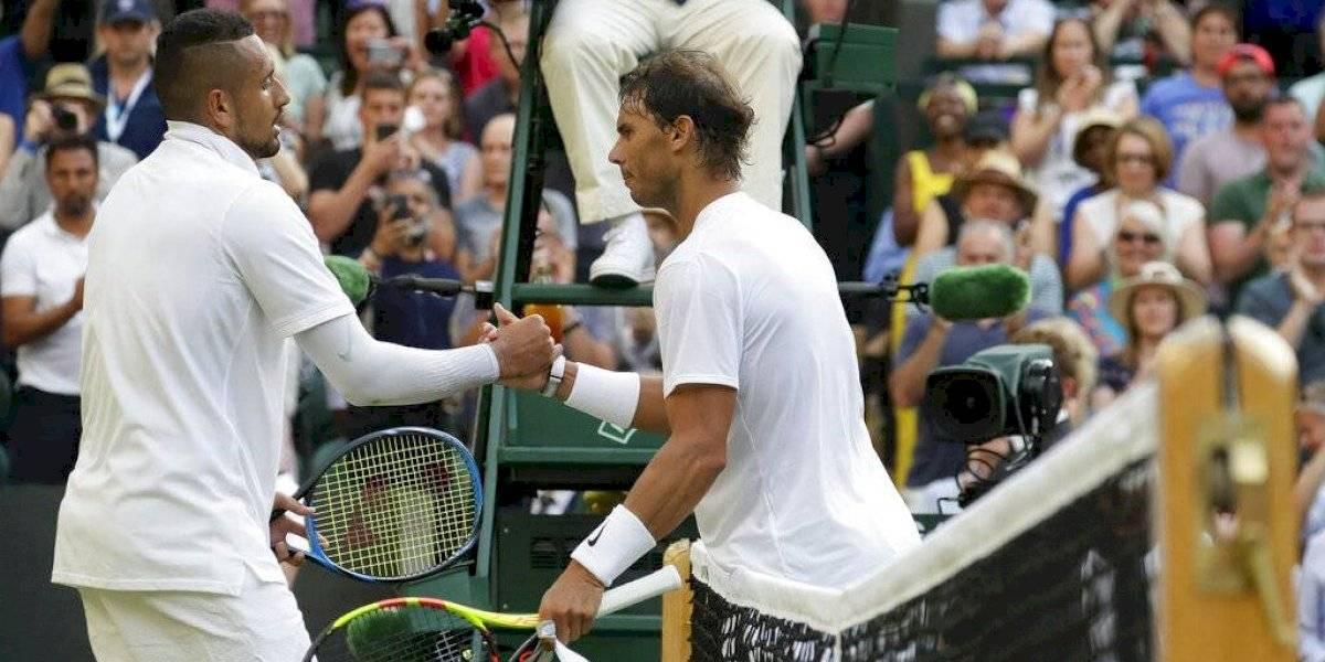 """Nadal elogia el juego del """"loco"""" Kyrgios en Wimbledon: """"Tiene potencial de ganador de Grand Slam"""""""