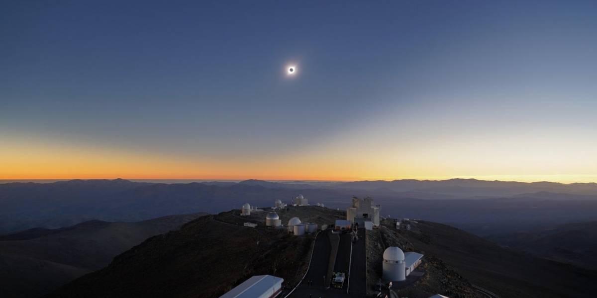 Observatório Espacial divulga imagem espetacular que mostra etapas do eclipse solar total