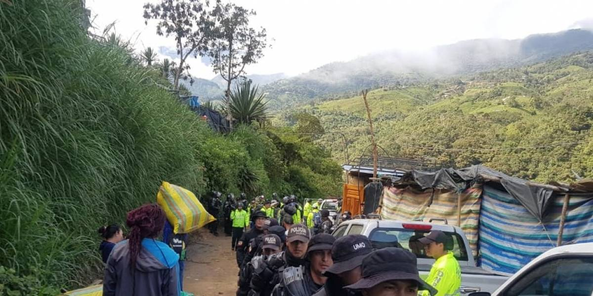 Imbabura: Hallan dos cadáveres en avanzado estado de descomposición en zona minera de Buenos Aires