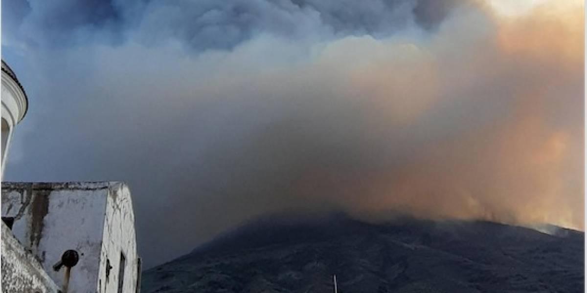 Las impresionantes imágenes de la erupción del volcán Stromboli