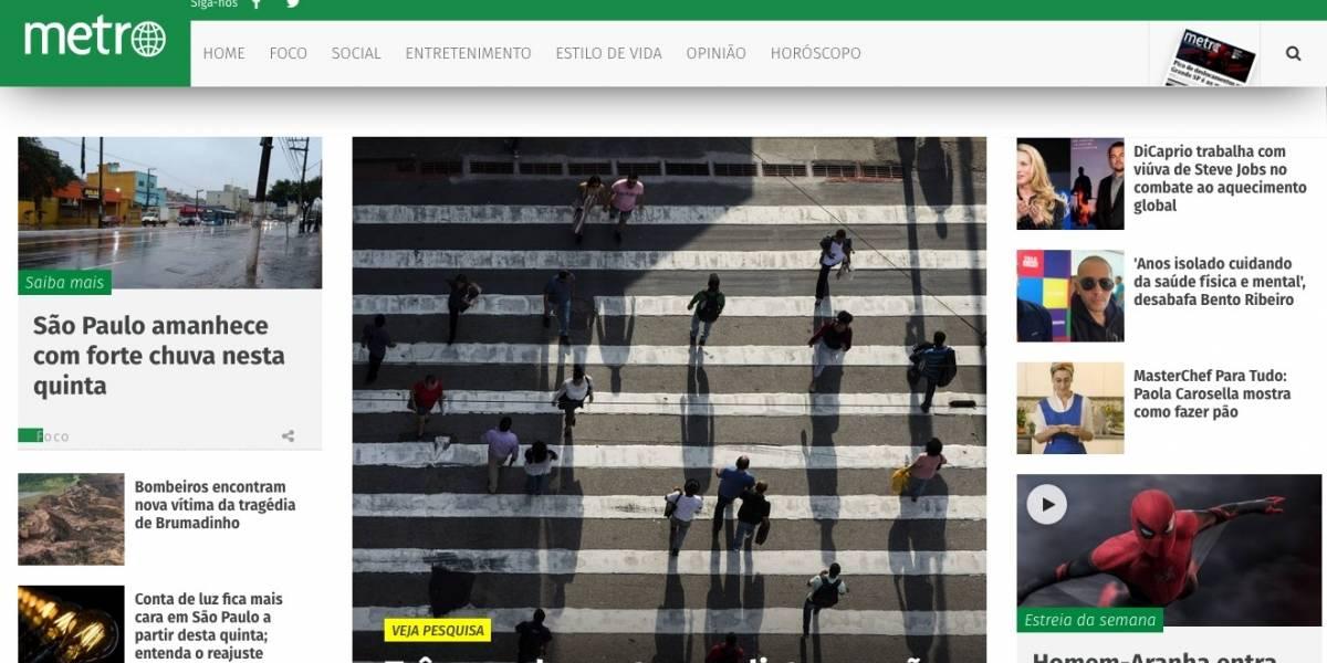 Site do Metro Jornal bate novo recorde de audiência no mês de junho
