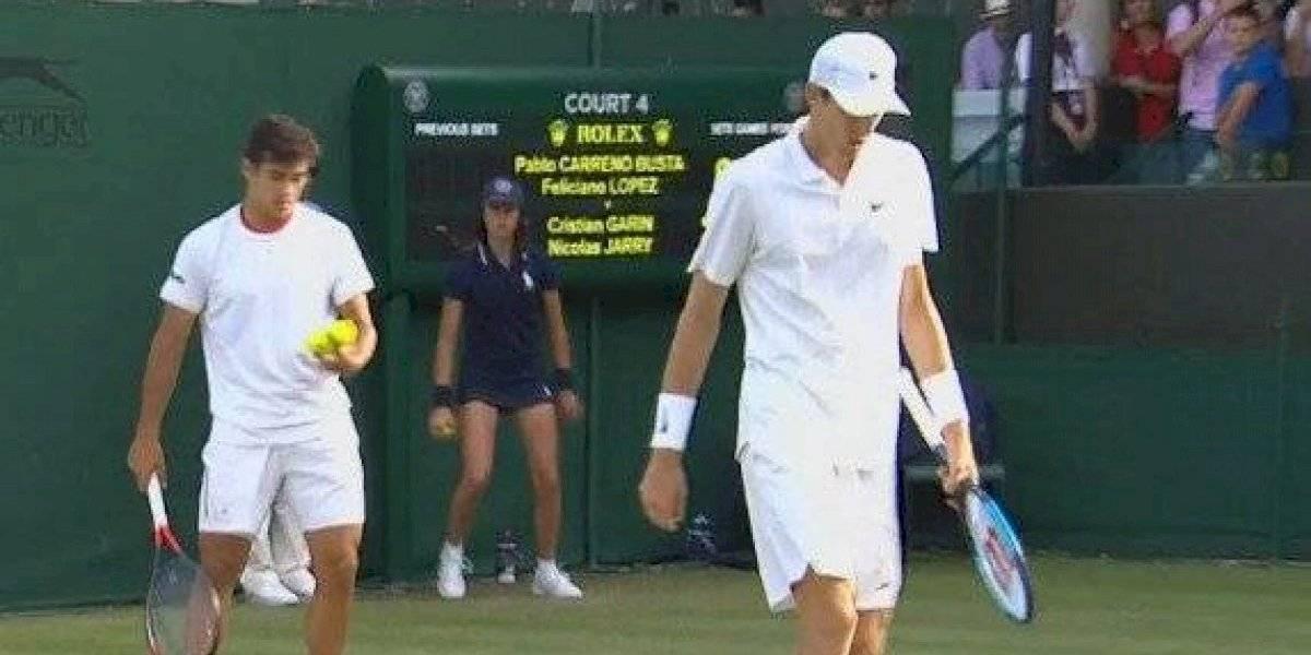 Garin y Jarry no pudieron con dupla española y se despidieron del dobles en Wimbledon