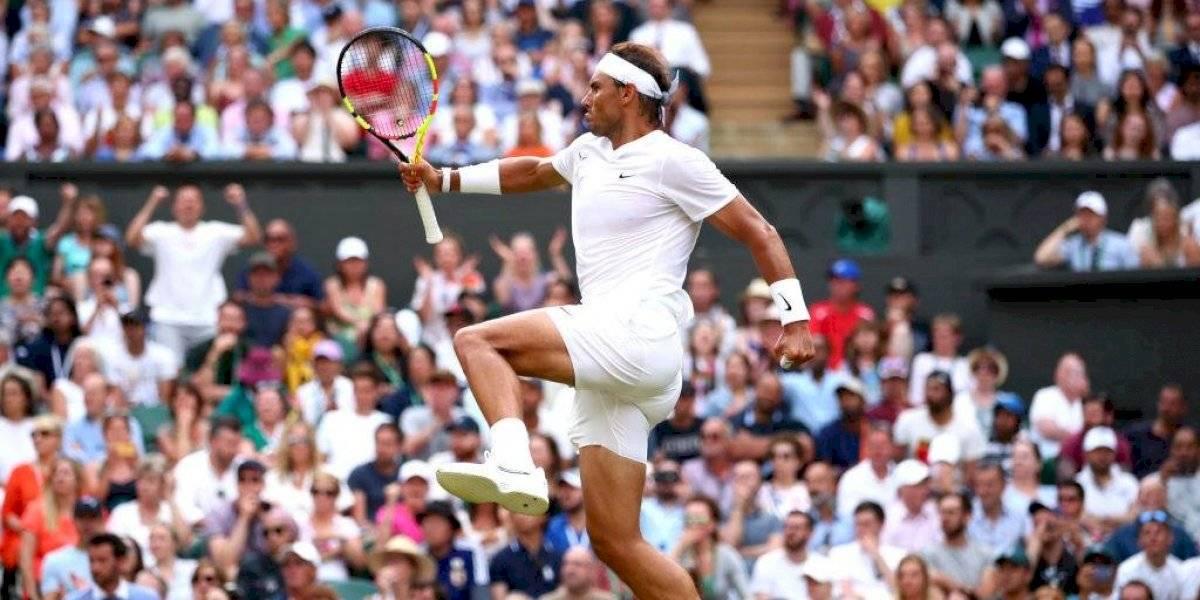 """Nadal sacó su jerarquía para eliminar al """"loco"""" Kyrgios en duelo muy caliente en Wimbledon"""