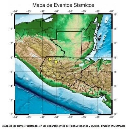sismos en Huehuetenango y Quiché durante julio 2019