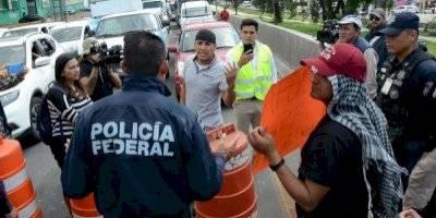Protesta policías federales