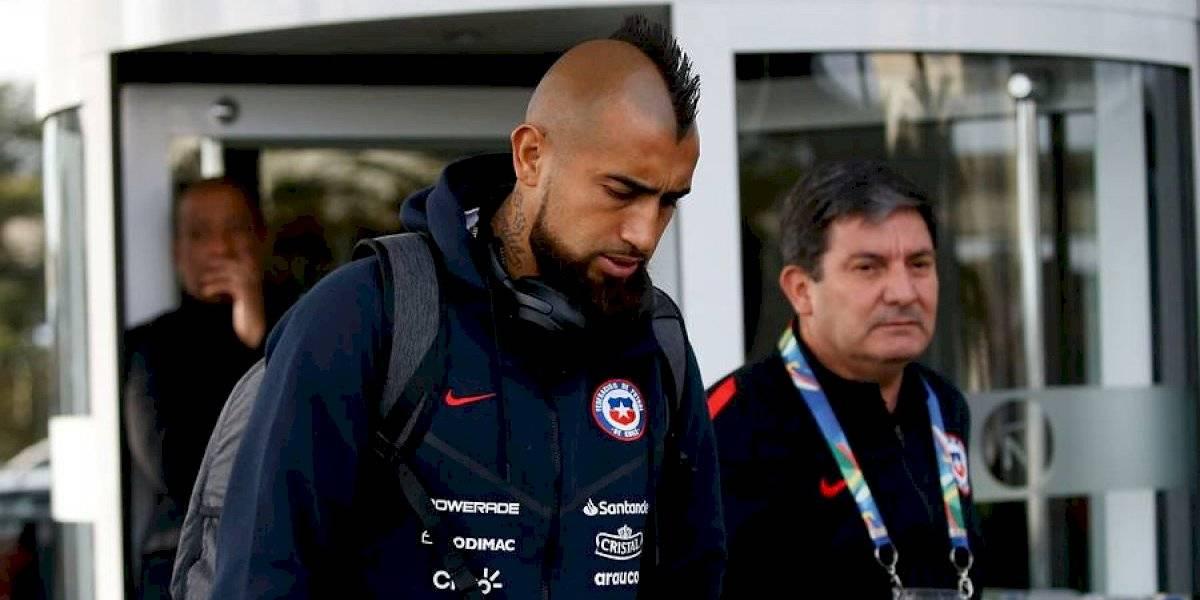 Arturo Vidal es la gran duda en la Roja para enfrentar a Argentina por el tercer lugar de Copa América