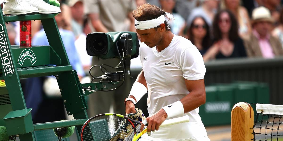 VIDEO: La reacción de Nadal por el pelotazo de Kyrgios en Wimbledon