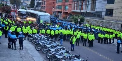 Venezolanos en las calles de Quito