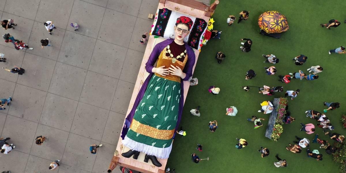 ¡Asombroso! Así es el homenaje a Frida Kahlo en la Ciudad de México